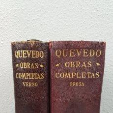 Libros de segunda mano: FRANCISCO QUEVEDO VILLEGAS. OBRAS COMPLETAS. VERSO Y PROSA. PRIMERAS EDICIONES 1941 / 1943. Lote 273997328