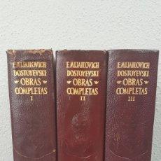 Libros de segunda mano: FIODOR M. DOSTOYEVSKI. OBRAS COMPLETAS. 3 TOMOS. AGUILAR. Lote 274417533