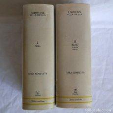 Libros de segunda mano: RAMÓN DEL VALLE-INCLÁN, OBRAS COMPLETAS, 2 TOMOS, 2002, ESPASA. Lote 275306833