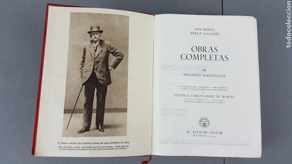 Libros de segunda mano: Benito Pérez Galdós - Obras Completas - Los Episodios Nacionales (completos) - Editorial Aguilar - Foto 7 - 276955148