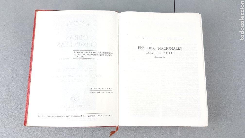 Libros de segunda mano: Benito Pérez Galdós - Obras Completas - Los Episodios Nacionales (completos) - Editorial Aguilar - Foto 9 - 276955148