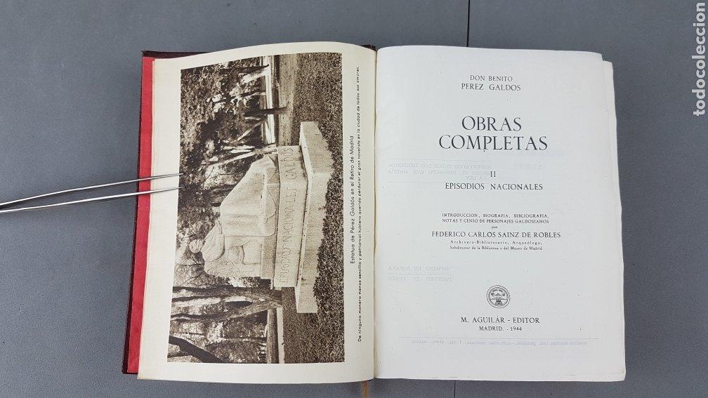 Libros de segunda mano: Benito Pérez Galdós - Obras Completas - Los Episodios Nacionales (completos) - Editorial Aguilar - Foto 11 - 276955148