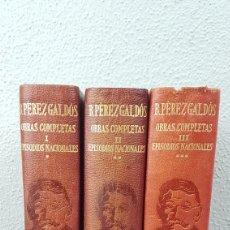Libros de segunda mano: BENITO PÉREZ GALDÓS - OBRAS COMPLETAS - LOS EPISODIOS NACIONALES (COMPLETOS) - EDITORIAL AGUILAR. Lote 276955148