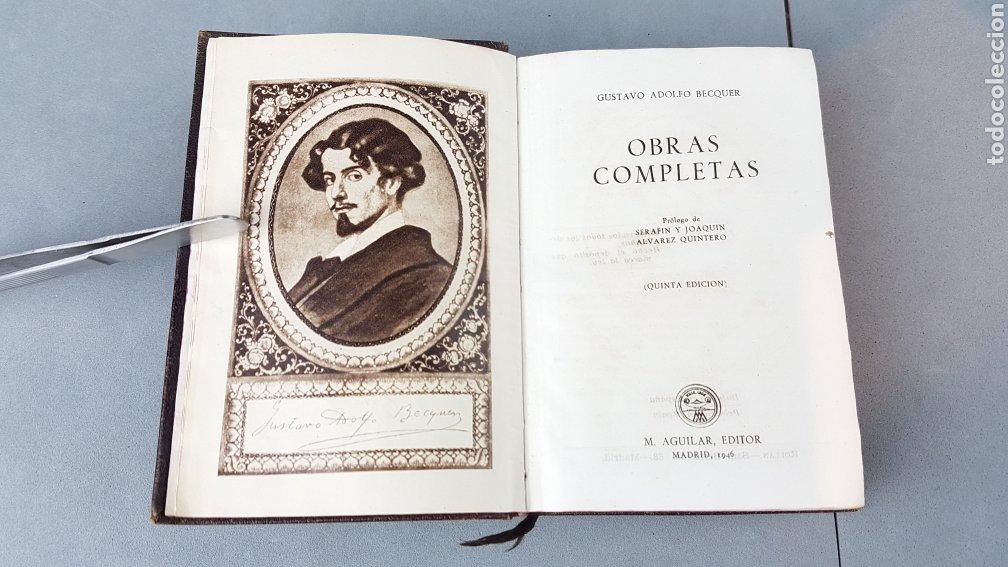 Libros de segunda mano: OBRAS COMPLETAS DE GUSTAVO ADOLFO BÉCQUER. ED. AGUILAR.5ª EDICIÓN 1946. - Foto 5 - 277076138