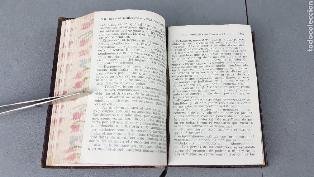 Libros de segunda mano: OBRAS COMPLETAS DE GUSTAVO ADOLFO BÉCQUER. ED. AGUILAR.5ª EDICIÓN 1946. - Foto 7 - 277076138
