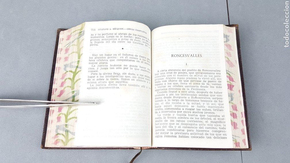 Libros de segunda mano: OBRAS COMPLETAS DE GUSTAVO ADOLFO BÉCQUER. ED. AGUILAR.5ª EDICIÓN 1946. - Foto 8 - 277076138