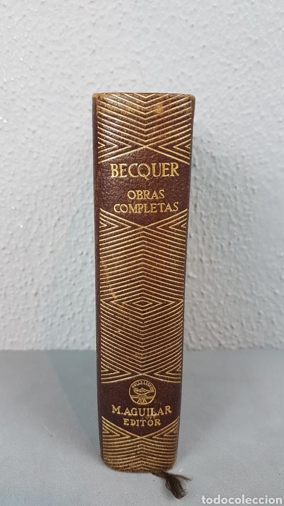 OBRAS COMPLETAS DE GUSTAVO ADOLFO BÉCQUER. ED. AGUILAR.5ª EDICIÓN 1946. (Libros de Segunda Mano (posteriores a 1936) - Literatura - Narrativa - Clásicos)