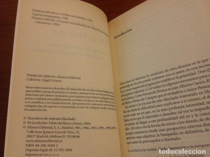 Libros de segunda mano: Antonio Machado - Juan de Mairena: Sentencias, donaires, apuntes y recuerdos - Alianza 2004 (1ª Ed.) - Foto 8 - 277090873