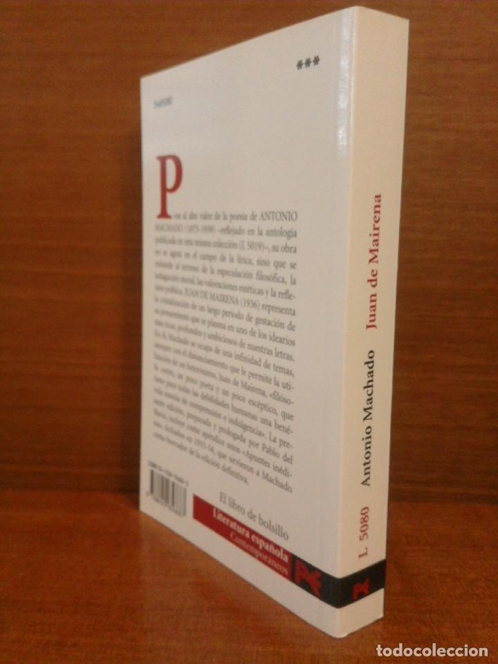 Libros de segunda mano: Antonio Machado - Juan de Mairena: Sentencias, donaires, apuntes y recuerdos - Alianza 2004 (1ª Ed.) - Foto 9 - 277090873