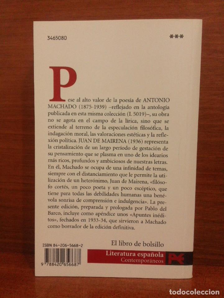Libros de segunda mano: Antonio Machado - Juan de Mairena: Sentencias, donaires, apuntes y recuerdos - Alianza 2004 (1ª Ed.) - Foto 10 - 277090873