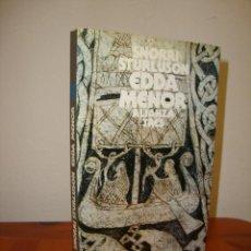 Libros de segunda mano: EDDA MENOR - SNORRI STURLUSON - ALIANZA TRES, MUY BUEN ESTADO. Lote 277197943