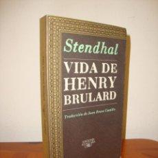 Libros de segunda mano: VIDA DE HENRY BRULARD - STENDHAL - ALFAGUARA, MUY BUEN ESTADO. Lote 277202188