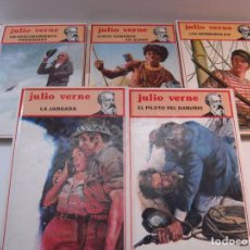 Libros de segunda mano: LOTE 5 LIBROS JULIO VERNE TAPA DURA. Lote 277259698