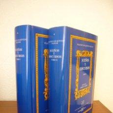 Libros de segunda mano: QUEVEDO: SUEÑOS Y DISCURSOS I Y II. ED. CRÍTICA DE JAMES O. CROSBY (CASTALIA, 1993) COMO NUEVO. Lote 277264748