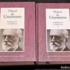 Libros de segunda mano: MIGUEL DE UNAMUNO. OBRAS COMPLETAS RBA.. Lote 277291063