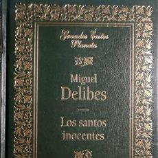 Libros de segunda mano: LOS SANTOS INOCENTES / MIGUEL DELIBES. BARCELONA : PLANETA, 1994. (GRANDES ÉXITOS PLANETA).. Lote 278317928