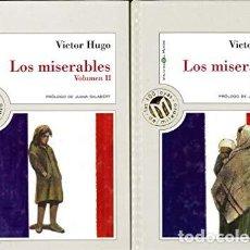 Libros de segunda mano: LOS MISERABLES VOL I Y II - VICTOR HUGO. Lote 278417718
