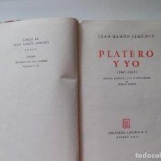 Libros de segunda mano: LIBRERIA GHOTICA. JUAN RAMON JIMENEZ. PLATERO Y YO. EDITORIAL LOSADA 1942. ILUSTRADO.. Lote 280964163