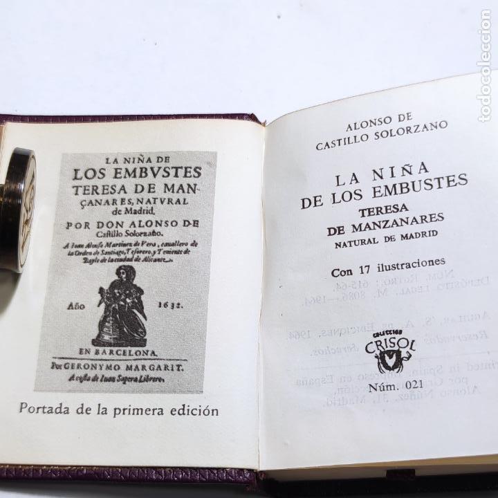 Libros de segunda mano: Alonso de Castillo Solorzano. La niña de los embustes. Crisolín nº 21. 1ª edición. 1964. - Foto 3 - 285128693