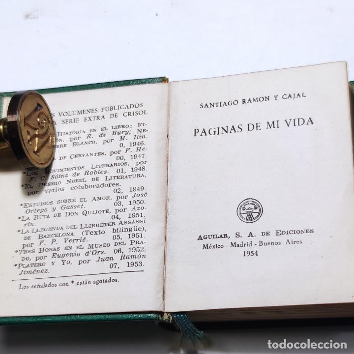 Libros de segunda mano: Páginas de mi vida. Santiago Ramón y Cajal. Crisolín nº 08. 1ª edición. 1954. - Foto 2 - 285129778
