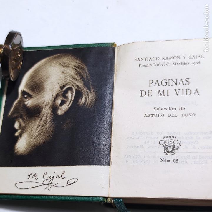 Libros de segunda mano: Páginas de mi vida. Santiago Ramón y Cajal. Crisolín nº 08. 1ª edición. 1954. - Foto 3 - 285129778