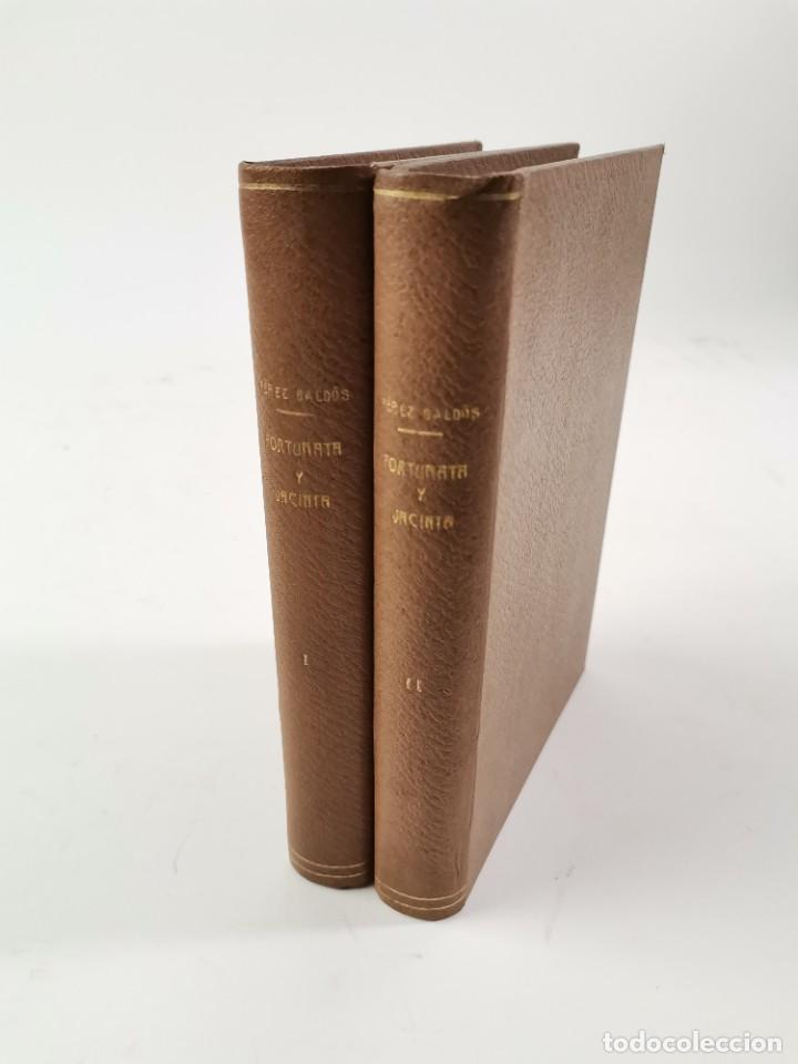 L-3484. FORTUNATA Y JACINTA, B.PEREZ GALDOS. 2 TOMOS. 1915-16. (Libros de Segunda Mano (posteriores a 1936) - Literatura - Narrativa - Clásicos)