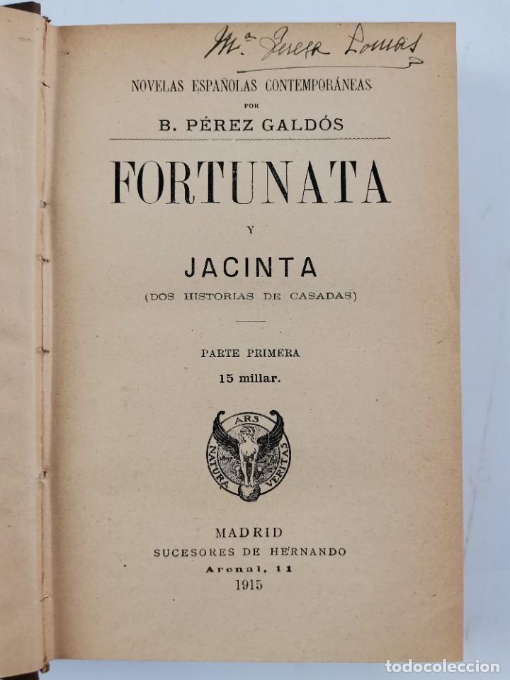 Libros de segunda mano: L-3484. FORTUNATA Y JACINTA, B.PEREZ GALDOS. 2 TOMOS. 1915-16. - Foto 2 - 286816948