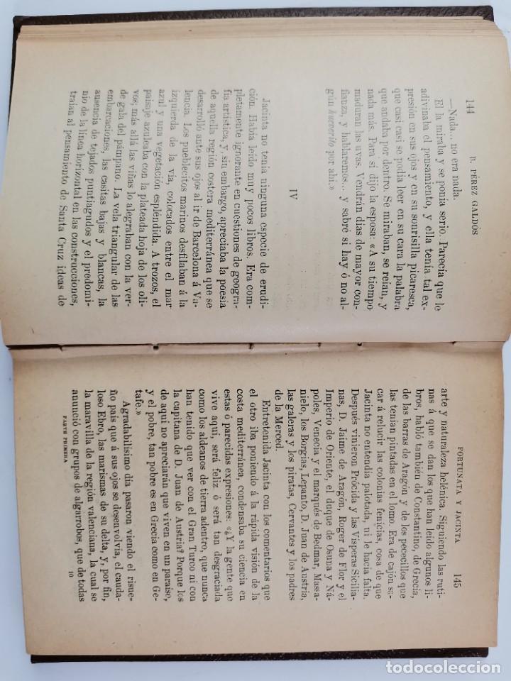 Libros de segunda mano: L-3484. FORTUNATA Y JACINTA, B.PEREZ GALDOS. 2 TOMOS. 1915-16. - Foto 7 - 286816948