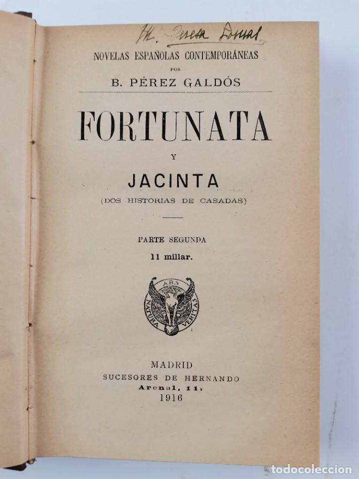 Libros de segunda mano: L-3484. FORTUNATA Y JACINTA, B.PEREZ GALDOS. 2 TOMOS. 1915-16. - Foto 10 - 286816948