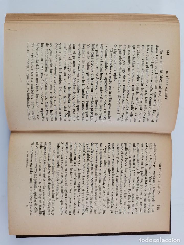 Libros de segunda mano: L-3484. FORTUNATA Y JACINTA, B.PEREZ GALDOS. 2 TOMOS. 1915-16. - Foto 12 - 286816948