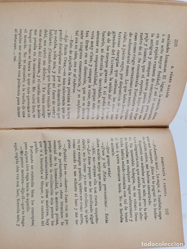 Libros de segunda mano: L-3484. FORTUNATA Y JACINTA, B.PEREZ GALDOS. 2 TOMOS. 1915-16. - Foto 15 - 286816948