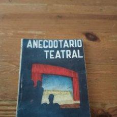 Libros de segunda mano: J. F ROA ANECDOTARIO TEATRAL. COL PANDORA N.9. Lote 286980788