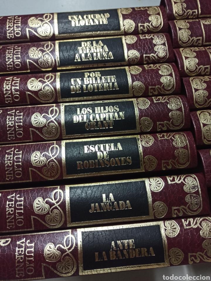 Libros de segunda mano: COLECCIÓN COMPLETA CON 15 LIBROS NOVELAS DE JULIO VERNE - EDICIONES DALMAU SOCÍAS - EDITORS AÑO 1989 - Foto 3 - 287642818