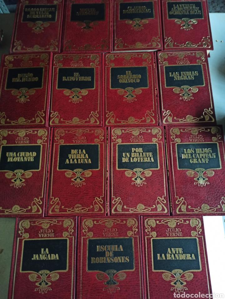 Libros de segunda mano: COLECCIÓN COMPLETA CON 15 LIBROS NOVELAS DE JULIO VERNE - EDICIONES DALMAU SOCÍAS - EDITORS AÑO 1989 - Foto 5 - 287642818