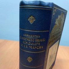 Libros de segunda mano: EL INGENIOSO HIDALGO DON QUIJOTE DE LA MANCHA. CERVANTES. ED. RAMÓN SOPENA. BARCELONA 1940.. Lote 287894388