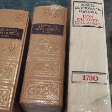 Libros de segunda mano: DON QUIXOTE DE LA MANCHA Y 2 TOMOS CERVANTES DON QUIJOTE. Lote 287895068