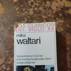 Libros de segunda mano: VACACIONES EN CARNAC... (MIKA WALTARI) (LOS CLÁSICOS DEL SIGLO XX) (PLAZA & JANES). Lote 288119328