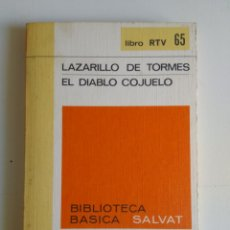 Libros de segunda mano: LAZARILLO DE TORMES/EL DIABLO COJUELO. Lote 288119638