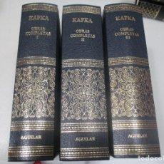 Libri di seconda mano: FRANZ KAFKA OBRAS COMPLETAS (3 TOMOS) W9397. Lote 288459878