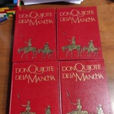 Libros de segunda mano: DON QUIJOTE DE LA MANCHA CERVANTES 4 TOMOS EDICIÓN ARGOS VERGARA BARCELONA. Lote 289415298