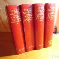 Libros de segunda mano: BENITO PEREZ GALDOS/OBRAS COMPLETAS-EPISODIOS NACIONALES/AGUILAR,1973/4 TOMOS.. Lote 289546868