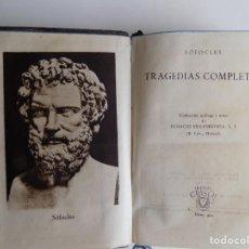 Libros de segunda mano: LIBRERIA GHOTICA. SOFOCLES. TRAGEDIAS COMPLETAS. AGUILAR 1947. CRISOL 201. PAPEL BIBLIA.. Lote 294094433