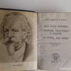 Libros de segunda mano: LIBRERIA GHOTICA.JOSÉ ZORRILLA.DON JUAN TENORIO.TRAIDOR INCONFIESO Y MARTIR. AGUILAR 1957.CRISOL 177. Lote 294095643