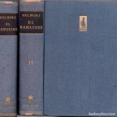Libros de segunda mano: EL RAMAYANA - VALMIKI - TRAD. DE JUAN G. DE LUACES - JOSÉ JANÉS EDITOR 1952. Lote 295437608