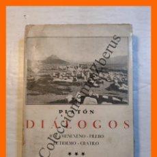 Libros de segunda mano: DIÁLOGOS. TOMO III - (ION - MENEXENO - FILEBO - EUTIDEMO - CRATILO) - PLATON. Lote 295517553