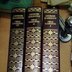 Libros de segunda mano: OBRAS COMPLETAS, GEORGE SIMENON, AGUILAR, 1968, 3 TOMOS, PRIMERA EDICION. Lote 295683868