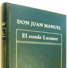 Libros de segunda mano: EL CONDE LUCANOR - DON JUAN MANUEL. Lote 297029433
