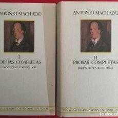 Libros de segunda mano: POESÍAS COMPLETAS Y PROSAS COMPLETAS / ANTONIO MACHADO / EDICIÓN CRÍTICA ORESTE MACRI. Lote 297243858