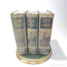 Libros de segunda mano: OBRAS COMPLETAS. PEDRO MATA. 3 TOMOS. EDITORIAL TESORO. PRIMERA EDICIÓN. 1951. MADRID.. Lote 297275838