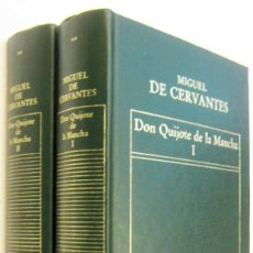 Libros de segunda mano: DON QUIJOTE DE LA MANCHA - MIGUEL DE CERVANTES - 2 TOMOS. Lote 297354793